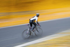 Uomo sulla bici Fotografie Stock