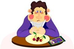 Uomo sulla dieta Immagini Stock Libere da Diritti