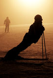 Uomo sulla luna, sogno di neve Fotografia Stock Libera da Diritti