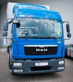 UOMO TGL 12 camion di consegna 250 Fotografie Stock