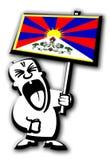 Uomo Tibet di protesta Immagine Stock