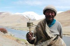 Uomo tibetano Fotografie Stock Libere da Diritti