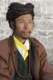 Uomo tibetano - Gyantse - Tibet Fotografia Stock Libera da Diritti
