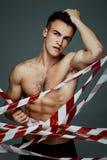 Uomo topless di modo Fotografia Stock