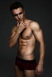 Uomo topless di modo Fotografie Stock Libere da Diritti