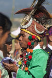 Uomo tradizionale di Jingpo al ballo Fotografia Stock