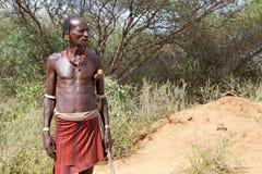 Uomo tribale africano fotografia stock