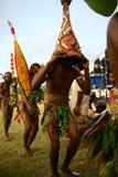 Uomo tribale del villaggio del Vanuatu fotografie stock