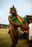 Uomo tribale del villaggio del Vanuatu fotografia stock libera da diritti