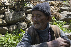 Uomo tribale himalayano Immagine Stock Libera da Diritti