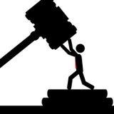 Uomo in tribunale Fotografia Stock
