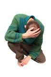 Uomo triste Fotografie Stock Libere da Diritti
