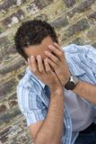 Uomo triste Fotografie Stock