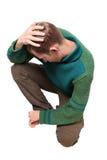 Uomo triste Fotografia Stock Libera da Diritti