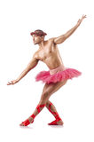Uomo in tutu di balletto Fotografia Stock Libera da Diritti