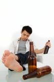 Uomo ubriaco Fotografia Stock Libera da Diritti