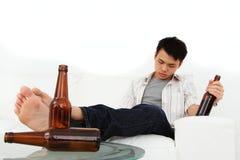 Uomo ubriaco Immagini Stock Libere da Diritti