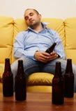 Uomo ubriaco Fotografie Stock
