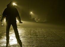 Uomo ubriaco in via Fotografia Stock Libera da Diritti