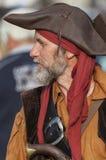Uomo in un costume del pirata Immagine Stock Libera da Diritti