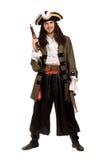 Uomo in un costume del pirata con le pistole Fotografie Stock Libere da Diritti