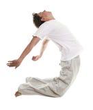 Uomo in un salto Fotografia Stock Libera da Diritti