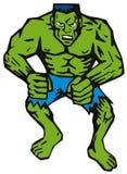 Uomo verde con i muscoli royalty illustrazione gratis