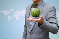 Uomo verde di affari concept Immagine Stock Libera da Diritti
