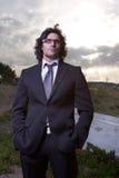 Uomo in vestito Fotografia Stock
