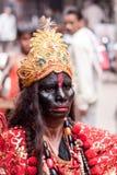 Uomo vestito come Kali Fotografia Stock
