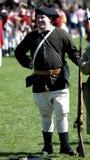 Uomo vestito come patriota americano Fotografia Stock Libera da Diritti