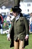 Uomo vestito come patriota americano Fotografie Stock