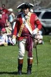 Uomo vestito come Redcoat britannico Fotografia Stock Libera da Diritti