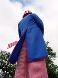 Uomo vestito come Zio Sam Fotografie Stock Libere da Diritti