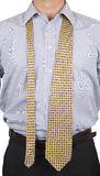 Uomo in vestito con il legame sciolto immagini stock libere da diritti