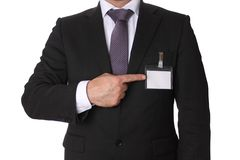 Uomo in vestito di affari Immagini Stock