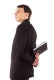 Uomo in vestito nero fotografia stock