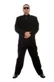 Uomo in vestito nero Fotografia Stock Libera da Diritti