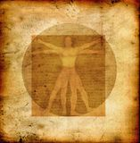 Uomo vitruvian del Da Vinci Fotografie Stock Libere da Diritti