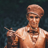 Uomo vivente della scultura fotografia stock