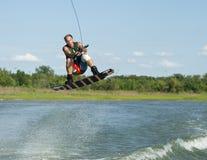 Uomo Wakeboarding Fotografia Stock