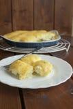 Uova al forno con formaggio Fotografia Stock