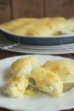 Uova al forno sotto il bechamel di Susa Fotografia Stock Libera da Diritti