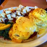 Uova Benedict Breakfast Fotografia Stock
