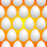 Uova bianche su fondo arancio illustrazione di stock