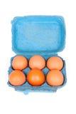Uova in casella fotografia stock libera da diritti
