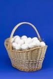 Uova in cestino senza la barra inversa Fotografie Stock
