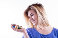 Uova come cioccolato Fotografia Stock