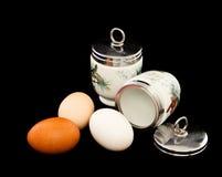 Uova con Coddlers inglese fotografie stock libere da diritti