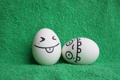 Uova con la foto dei fronti per la vostra progettazione Immagine Stock Libera da Diritti